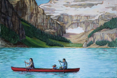 Lake Louise landscape painting