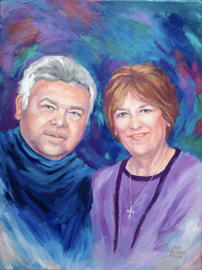 Portrait painting of Donna and Andrew